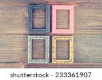 photo frame on wooden... | Shutterstock . vector #233361907
