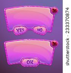 pink cartoon panels for game or ...