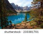 moraine lake in canada   Shutterstock . vector #233381701