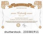 certificate design template. | Shutterstock .eps vector #233381911