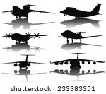 aircraft vector silhouettes... | Shutterstock .eps vector #233383351