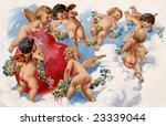 Seven Playful Angels Hovering...