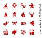 christmas icon set 6  vector... | Shutterstock .eps vector #233394049