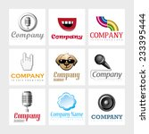 set of 9 vector elements for... | Shutterstock .eps vector #233395444