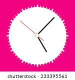 face clock vector background