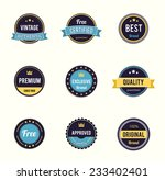 vector colorfull retro stamps ... | Shutterstock .eps vector #233402401