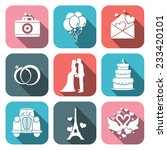 wedding icons set | Shutterstock .eps vector #233420101