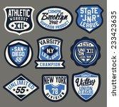 set graphics for t shirt | Shutterstock .eps vector #233423635