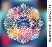 christmas and new year label... | Shutterstock .eps vector #233427751