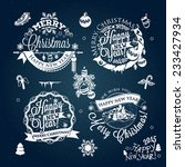 christmas and new year labels ... | Shutterstock .eps vector #233427934
