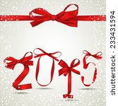 new year red ribbons with... | Shutterstock .eps vector #233431594