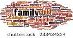 family word cloud concept.... | Shutterstock .eps vector #233434324