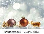 sparkling christmas background... | Shutterstock . vector #233434861