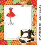 Card With Patchwork And Sewing...