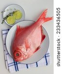 Small photo of Fresh alfonsino on the white background