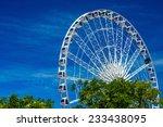 Ferris Wheel With Blue Sky  ...