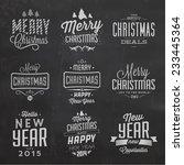 christmas typographic...   Shutterstock .eps vector #233445364