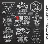 christmas typographic... | Shutterstock .eps vector #233445394