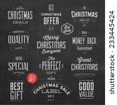collection of typographic... | Shutterstock .eps vector #233445424