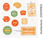 vector sale christmas | Shutterstock .eps vector #233459821