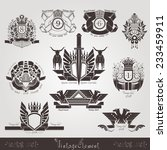 vintage engraving banners or... | Shutterstock .eps vector #233459911