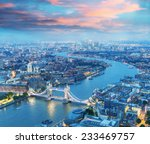 London At Night. Aerial View Of ...