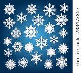 winter white christmas snowflake | Shutterstock .eps vector #233473357