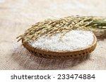 rice  rice grain  white rice on ... | Shutterstock . vector #233474884
