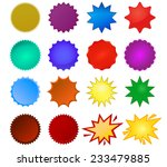 starburst seals set  bursting... | Shutterstock .eps vector #233479885