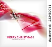 pink color christmas blurred... | Shutterstock . vector #233480761