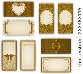 set of elegant templates for... | Shutterstock .eps vector #233483119