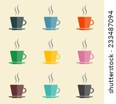 coffee cups | Shutterstock .eps vector #233487094