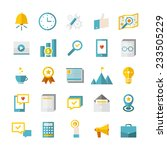 modern flat business icons...