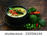 thai chicken green curry with... | Shutterstock . vector #233506144
