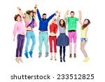 large group of cheerful young... | Shutterstock . vector #233512825