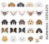 illustrations of dog face | Shutterstock .eps vector #233513191
