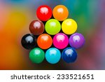 color pencils on colorful... | Shutterstock . vector #233521651
