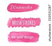 pink watercolor brush strokes.... | Shutterstock .eps vector #233531287
