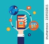 mobile payment online shopping... | Shutterstock .eps vector #233532811