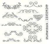 borders and monograms set in... | Shutterstock .eps vector #233539249