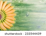 yellow bananas baby tips up the ... | Shutterstock . vector #233544439