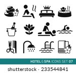 hotel   spa icons set    07 | Shutterstock .eps vector #233544841