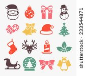 cute christmas icons set    ... | Shutterstock .eps vector #233544871