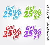 get 25 percent colorful vector... | Shutterstock .eps vector #233554165