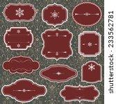 vintage frames and christmas... | Shutterstock .eps vector #233562781