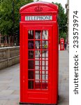 red telephone booth in london | Shutterstock . vector #233573974