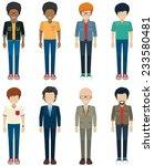 faceless bachelors on a white... | Shutterstock .eps vector #233580481