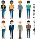 faceless bachelors on a white... | Shutterstock .eps vector #233580481