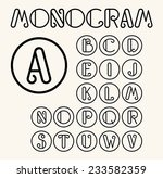 vintage art nouveau font for... | Shutterstock .eps vector #233582359