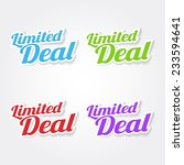 limited deal colorful vector... | Shutterstock .eps vector #233594641